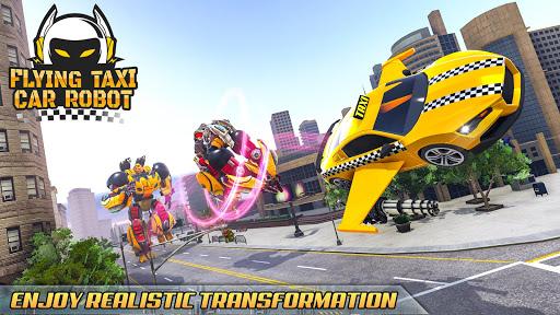 Flying Taxi Car Robot: Flying Car Games  screenshots 10