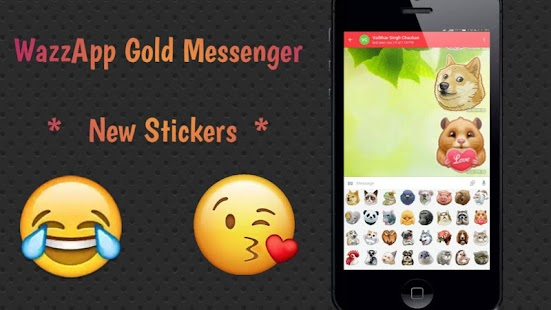 WazzApp Gold Messenger - náhled