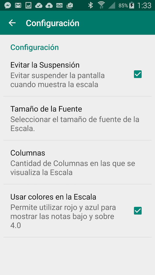 Escala de Notas - screenshot