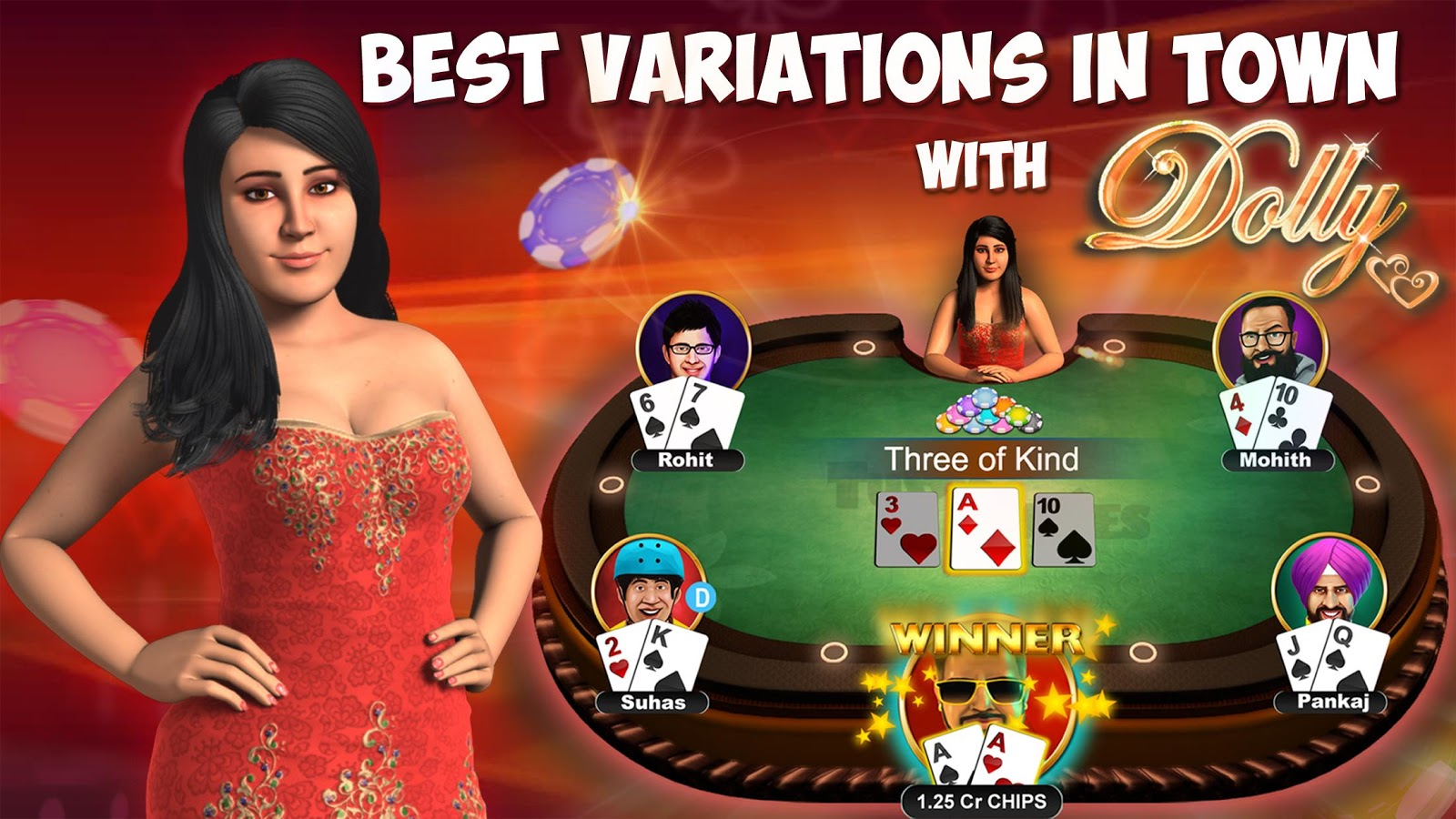 Teen Patti - Indian Poker- Best 3 Patti variations- screenshot