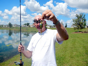 Photo: Bonita Pond on Canal Street, 1:17 pm, Filamentous Algae on lure