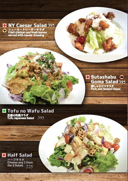 Kuuraku menu 6