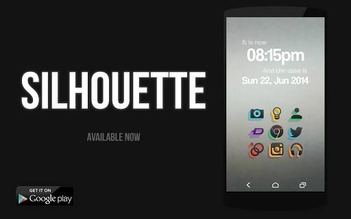 SILHOUETTE Icon Pack - screenshot