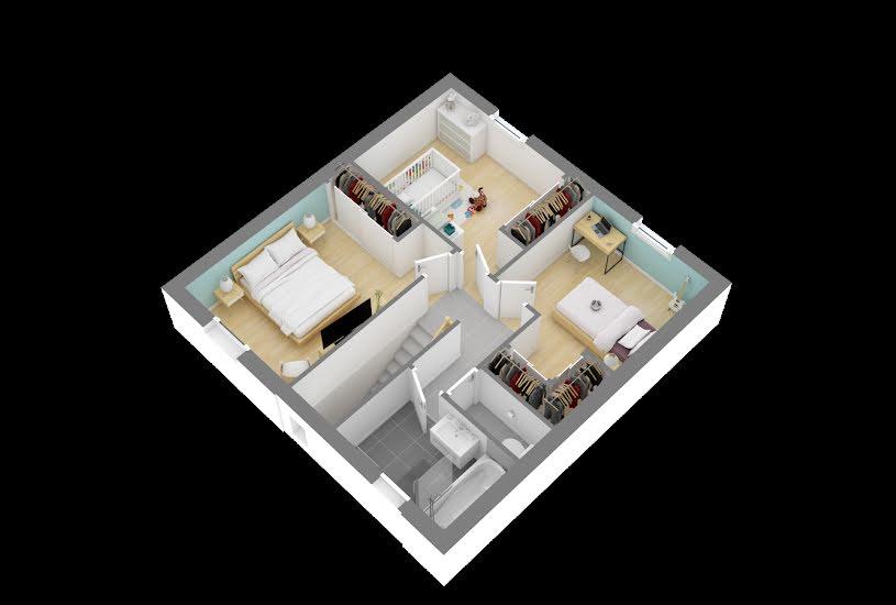 Vente Terrain + Maison - Terrain : 445m² - Maison : 98m² à Nozay (44170)