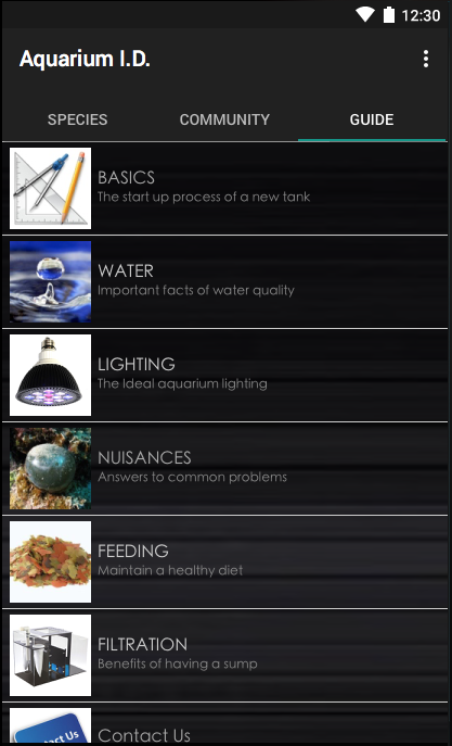 Aquarium I.D. PRO- screenshot