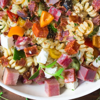 Meat Lovers Pasta Salad.