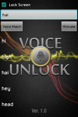 Voice Unlocker Lock Screen Pro