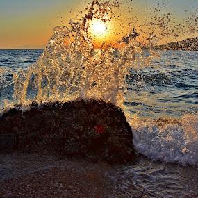 val se pjeni by Jelena Puškarić - Landscapes Sunsets & Sunrises ( water, colors, sea, seascape, landscape,  )