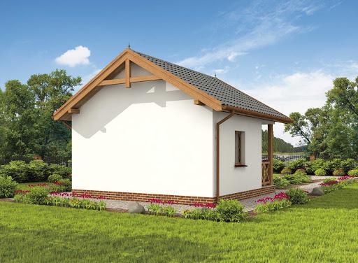 projekt Haga dom letniskowy szkielet drewniany
