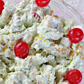 Pistachio Fruit Fluff Salad.
