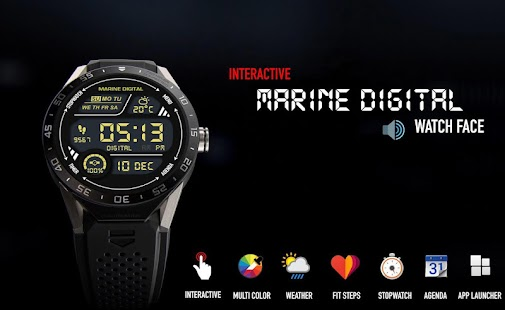 Watch Face - Marine Digital - náhled