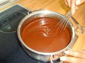 Photo: Garnache de chocolate de cobertura