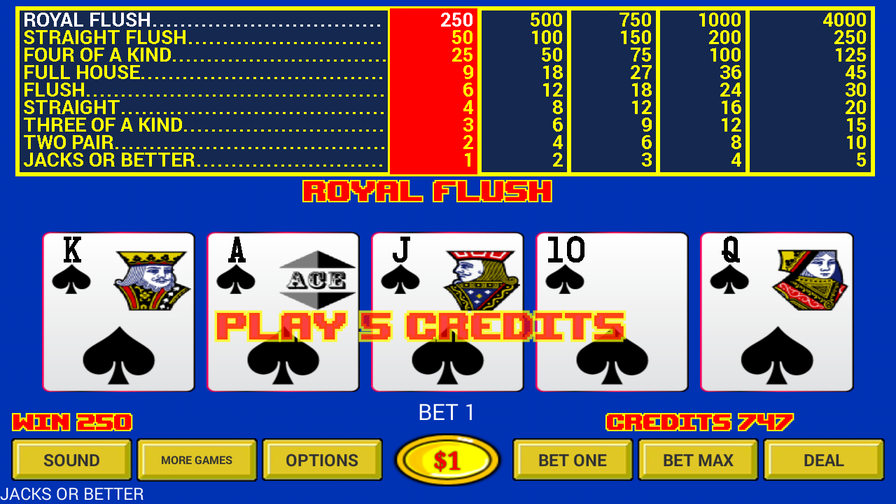 Video Poker - Original Games!- screenshot