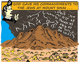 Photo: God gave His commandments to the Jews at Mount Sinai...