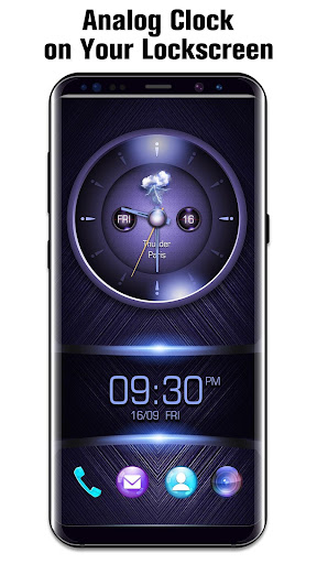 Analog Clock on Lockscreen app (apk) free download for Android/PC/Windows screenshot