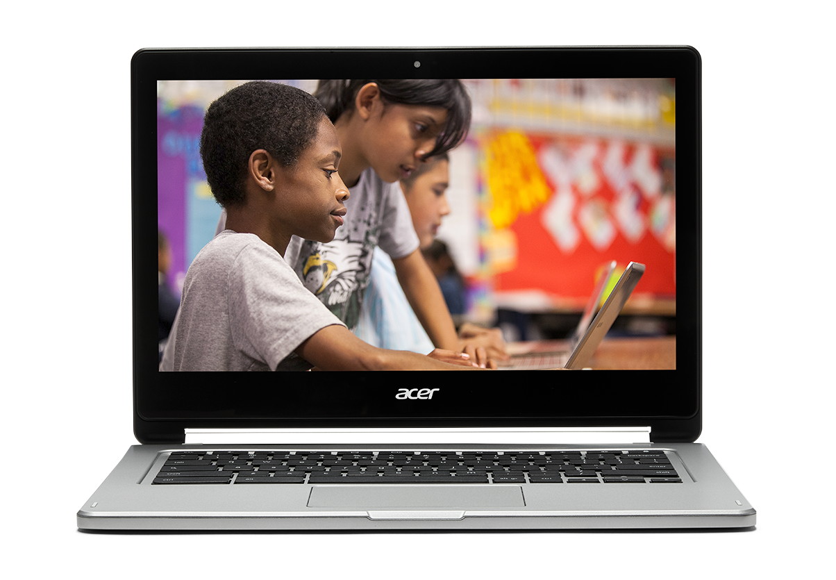 If you prepare students for careers that don't yet exist You Chromebook. Image of a Chromebook showing kids collaborating.