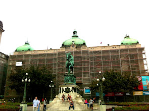 Photo: National Museum still under restoration and construction.  Belgrade.