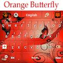 Orange Butterfly Keyboard icon