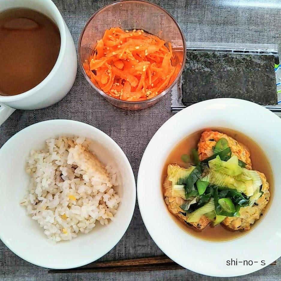 練り物を炊いたものなど、お昼ご飯