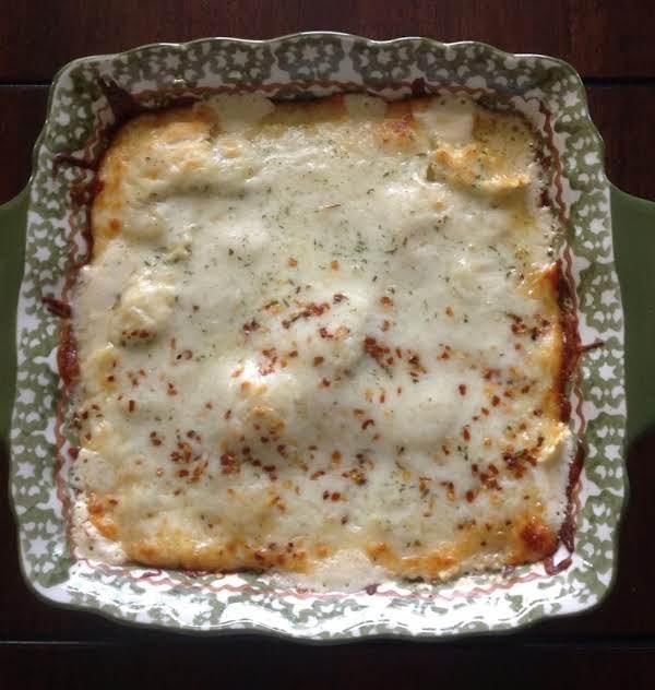 Ravioli  -  Spinach -  Alfredo Bake - Cass's Recipe