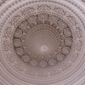 Temple Ceiling by Shishir Desai - Abstract Patterns ( pwclines-dq, circle, pwc79, Architecture, Ceilings, Ceiling, Buildings, Building )