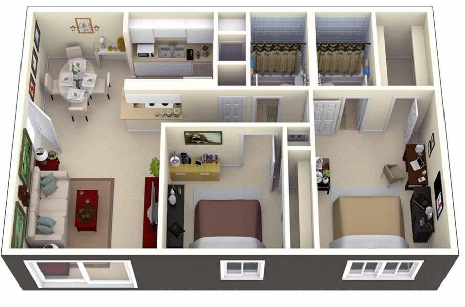 3d house plan designs android apps on google play for Appartement f3 design