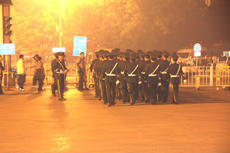 Photo: Day 189 - Soldiers  in Tiananmen Square
