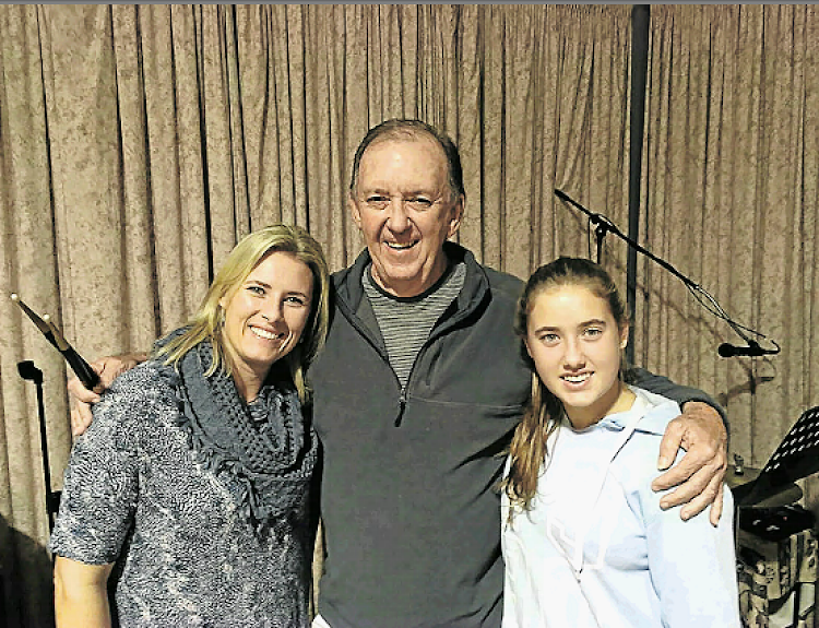 Nightclub owner turned church band drummer Warren Heyns, 70, will drum his way through 22 hits by the Beatles, Rolling Stones and Beach Boys in 'Classics of the Decades' and will be joined by daughter-in-law Katy, Heyns, 43, left, and granddaughter Lea, Heyns, 15, who will sing in the show on Friday and Saturday nights at the Guild Theatre.