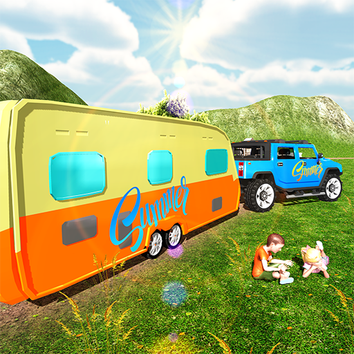 Camper Van Truck Simulator: RV Hummer Trailer Car
