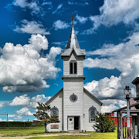 by Darrin Ralph - Buildings & Architecture Places of Worship ( church, blue, old town, cloud, south dakota, old building, rustic, west )