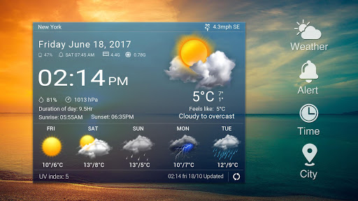 Daily & Hourly Weather Clock Widget  screenshots 9