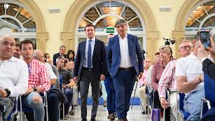 Toni nadal llegando al Patio de Luces con Javier Aureliano.