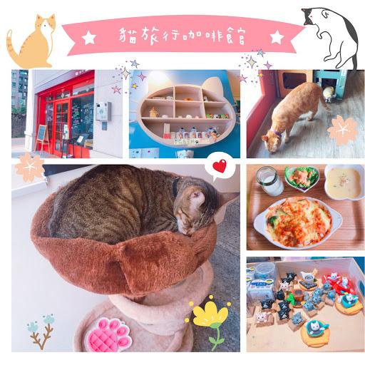 可愛又親人的貓咪~ 吃飯的時候看著牠們一直走來走去的 餐點普通~但還可以接受,環境不錯 可以悠閒的待整個下午😊