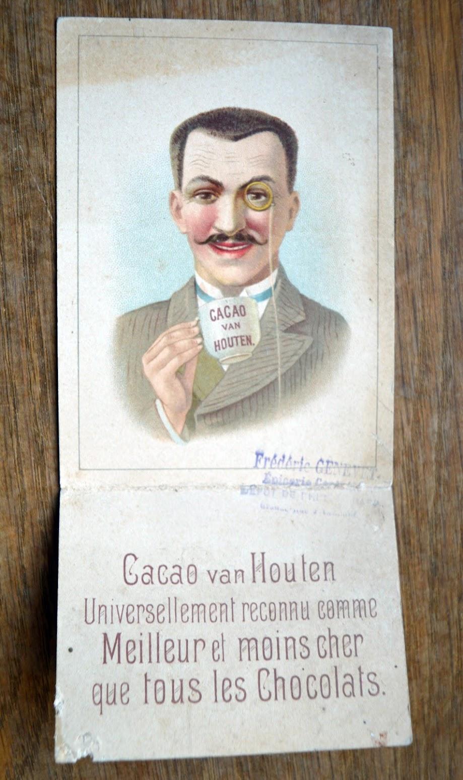 Cacao van Houten - Werbekarten - Chromos