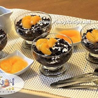 Black Rice Pudding.
