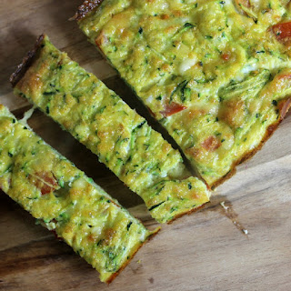 Zucchini and Tomato Quiche | Toddler Friendly Recipe