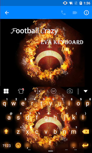 玩免費遊戲APP|下載Football Crazy Eva Keyboard app不用錢|硬是要APP