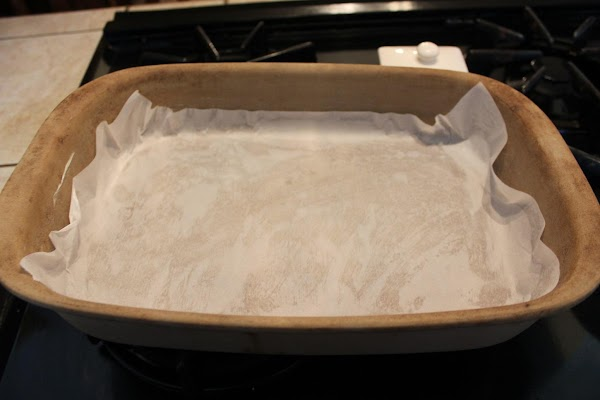 Preheat oven 350. Good tip: Butter bottom of a ceramic 9 x 13 baking...