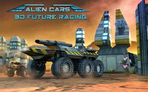将来の車の3Dレーシング