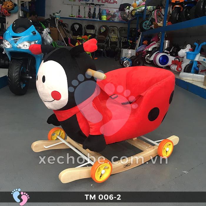 Thú bập bênh cho bé TM006-2 có bánh xe 1