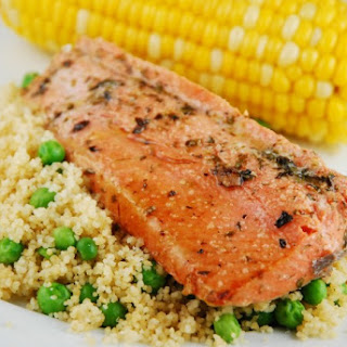 Italian Marinated Salmon with Couscous Recipe