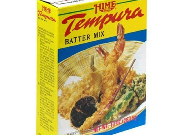 Follow instructions on how to make tempura mixture