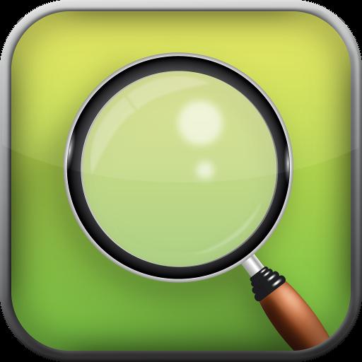 工具のトーチと拡大鏡 LOGO-記事Game