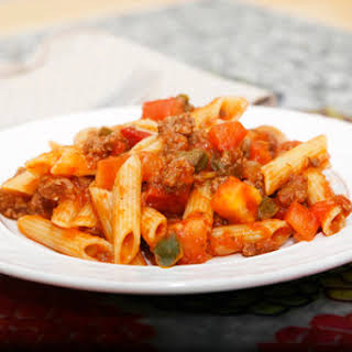 American Chop Suey with Gluten Free Pasta.