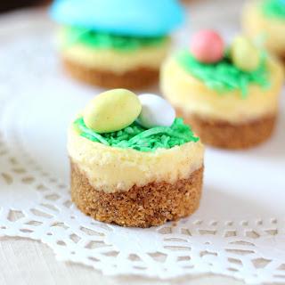 Mini Easter Cheesecakes.