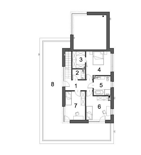 Ażurowy D38 - Rzut piętra
