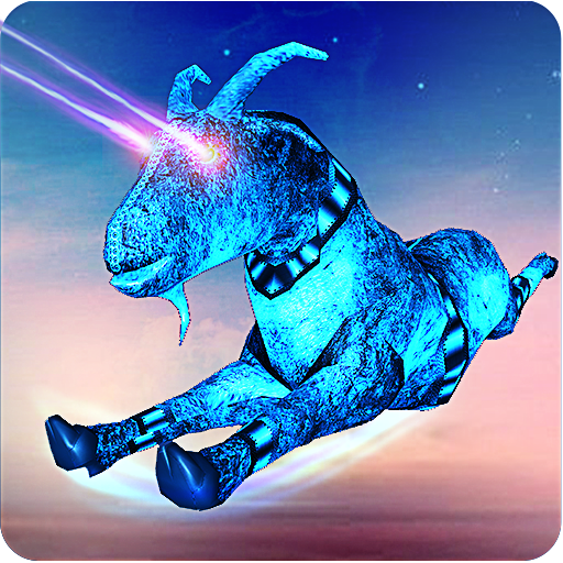 Goat Flying Robot: Super Eye Laser and Horn Attack