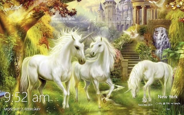 Unicorn HD Wallpapers New Tab Theme