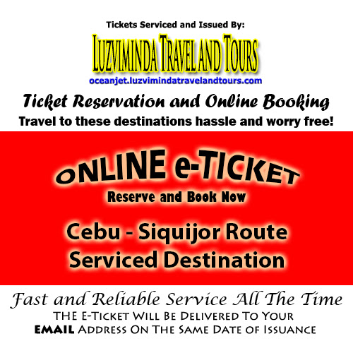 OceanJet Cebu-Tagbilaran-Dumaguete-Siquijor, Siquijor Route Ticket Reservation and Online Booking