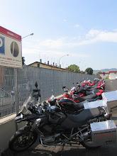 Photo: ... der nur für Mitarbeiter-Ducatis ist.
